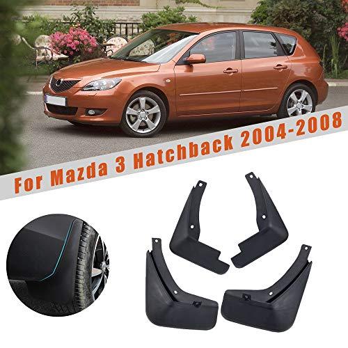 for Mazda 3 (BK) Hatch Hatchback M3 2004-2008 Car Wheel Splash Guards Mud Flaps Premium Heavy Duty Mud Guards Fender