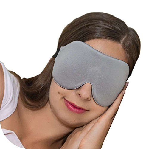 ComfyMed® Sleep Mask CM-EM17 - Best Night and Travel 3D Eye Mask for Men and Women (Gray)