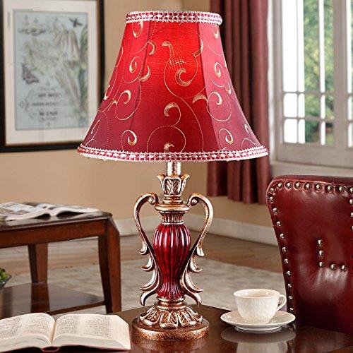 motes uvar Europea estilo de boda creativo habitaciones, Rojo Boda lámpara American Country Retro Regalo de Boda, Dormitorio, con bombilla, familia de color rosa, Button Cambiar