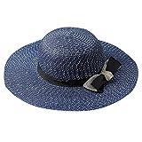 SEWORLD Sombrero de Paja Grande de la Playa al Aire Libre del Visera Plegable de la Playa del Verano...