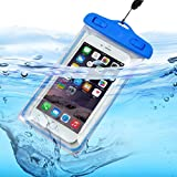 I-Sonite (Baby Blue Universal Transparente Teléfono Móvil, Pasaporte, Dinero Subacuático Impermeable Piscina, Protección Océano Bolsa Touch Responsive Para Nextbook Flexx 9