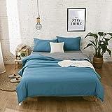 Accesorios para el hogar ropa de cama doble de algodón puro de un solo color funda de edredón cepillado simple juego de cuatro piezas ropa de cama de un solo color juego de cuatro piezas sábana de