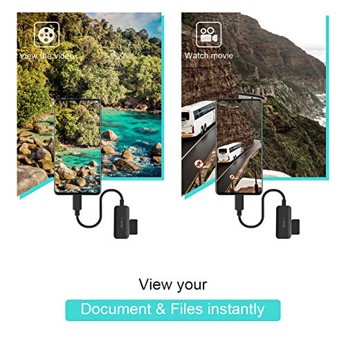 Kartenleser USB C, Dockteck USB C auf SD/MicroSD Kartenlese (2-in-1), USB C (Thunderbolt 3) SD Card Reader für MacBook Pro, Surface Book 2, Dell XPS 13/15, Pixel, Galaxy S10 / S9 / S8 und mehr