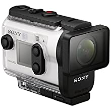 Sony FDR-X3000R 4K Action Camera with SteadyShot and Live View Remote Bundle with 32GB Memory Card, Camera Bag, Bobber Handle and Accessories (8 Items)