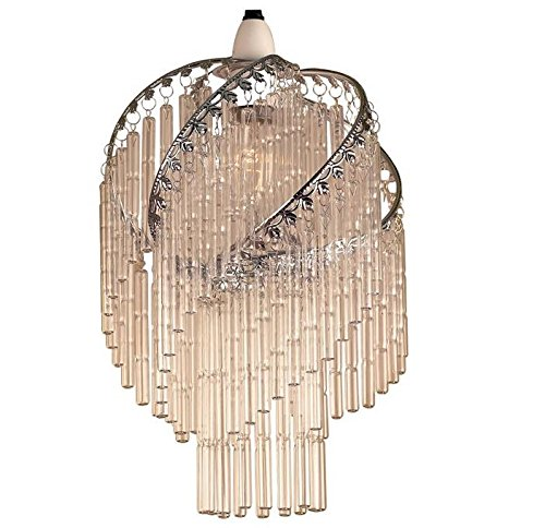 Lighting Web Co Cadre en spirale et bâtons en verre Chromé/transparent