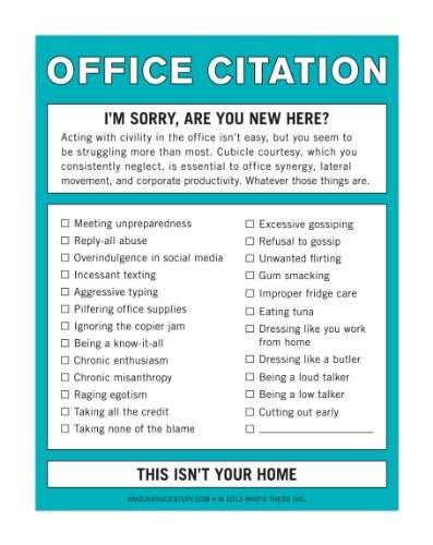 Knock Knock Office Citation Nifty Note Style: Office Citation Office Supplies Store Online, ofice