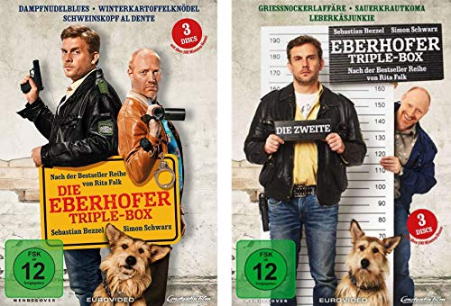 Eberhofer - Triple Box 1 + 2 (6 Filme Dampfnudelblues, Winterkartoffelknödel, Schweinskopf al dente, Grießnockerlaffäre, Sauerkrautkoma, Leberkäsjunkie) im Set - Deutsche Originalware [6 DVDs]