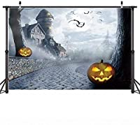 HD 10x7ft Halloween Background Banner Halloween Night Moon Pu kin Backdrop Carnival Party Portrait Photo Background Bat Castle Carnival Party Background Studio Props Product Photography Backdrop