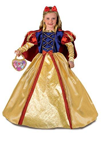 Fiori Paolo 27136 - Biancaneve Costume Bambina con Borsetta e Make-Up, 5-7 Anni, Giallo/Rosso/Blu