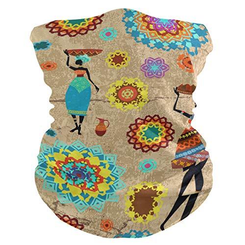 Rulyy Bandanas para el polvo, estilo retro indio, mandala egipcio, pañuelo multifunción, pañuelo para el aire libre, pasamontañas, toalla protectora para la cara, unisex