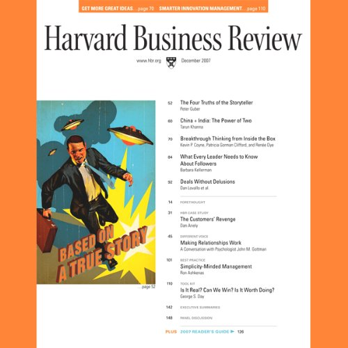 Harvard Business Review, December 2007 cover art
