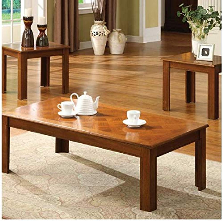Demirci 3-Piece Coffee Table Set (Oak)