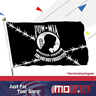 MOFAN POW MIA Prison Flag Durable Polyester and Brilliant Colors You are NOT Forgotten Flag with 2 Strong Grommets Indoor Outdoor Decoration 3x5ft