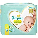 foto Pampers Premium Protection - Pañales (talla 2, 32 pañales, 4-8 kg, 646 g)