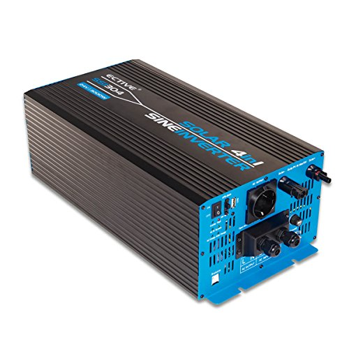 ECTIVE 3000W 24V zu 230V SSI-Serie Reiner Sinus Wechselrichter mit Ladegerät MPPT-Solarladeregler und NVS in 5 Varianten: 1000W - 3000W