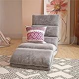 DHP Blair Memory Foam Adjustable Wave Lounger Floor Chair in Grey Microfiber