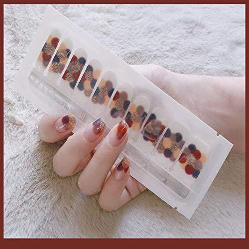 Nail Polish Stickers Full Wraps Auto-Adhésif Diy 3D Imperméable À L'Eau Durable Patch Patch Auto-Adhésif Nail Art Decals Manucure Kit Pour Femmes Filles