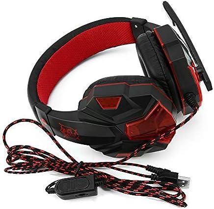 BFHCVDF Auriculares para juegos SY830MV con Luces LED de auriculares de micrófono y sonido para PS4 / Xbox-One Negro y Rojo - Trova i prezzi più bassi