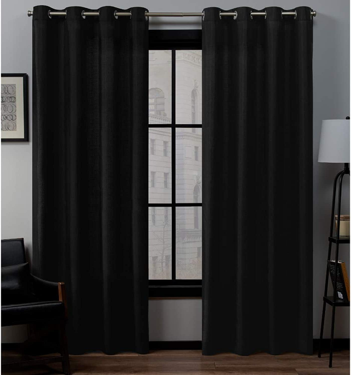 Exclusive Home Curtains Loha Gt Panel Pair, 84  Length, Midnight
