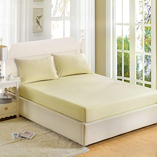 GTWOZNB Bed Sheets, Ultra Soft Silky Smooth and Wrinkle-Resistant Single piece of bed sheet dust-proof-milk white_180*200cm