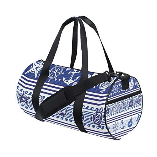 TIZORAX Blue Ocean Anchor - Bolsa de viaje para gimnasio, diseño de estrella de mar