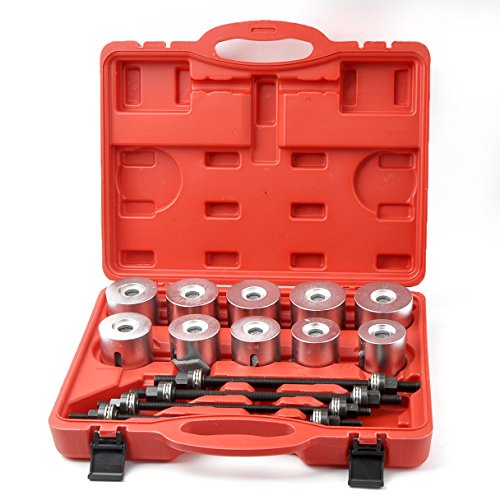 Master Bearing Press and Pull Sleeve Kit 34mm - 82mm Bear Gear Removal Tool Set