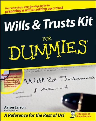 Compare Textbook Prices for Wills and Trusts Kit For Dummies 1 Edition ISBN 9780470283714 by Larson, Aaron