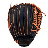 YFBY Guantes de béisbol para Adolescentes/Adultos/niños, Guantes de béisbol para niños PU, Guantes de Primera Base, Ajustables, para Principiantes o lanzadores de campo-12.5inch
