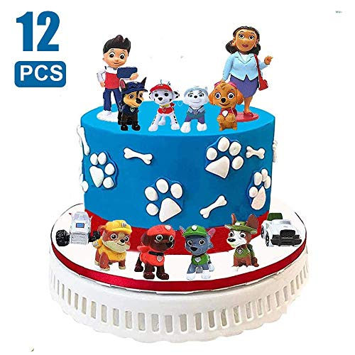 Sinwind Paw Patrol Tortenfiguren, 12er Paw Patrol MiniFiguren Tortendeko, Cake Topper, Geburtstags Party liefert Cupcake Figuren, Party Kuchen Dekoration Lieferungen, Tortendeko Junge