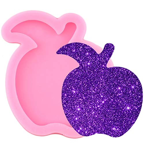 TIANDI Shiny Glossy Apple Keychain Mold Phone Grip Epoxy Resin Silicone Mould Diy Pendant Making Polymer Cay Moulds