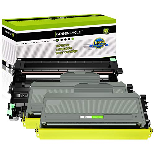 GREENCYCLE Drum Unit + 2X Toner Cartridge Replacements Compatible for Brother DR-360 TN-360 use with MFC-7340/7345N/7440N/7840W HL-2140/2170W DCP-7030/7040 Printer
