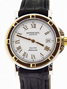 Raymond Weil 2830 Men's Parsifal Date White Dial Black Leather Automatic Watch