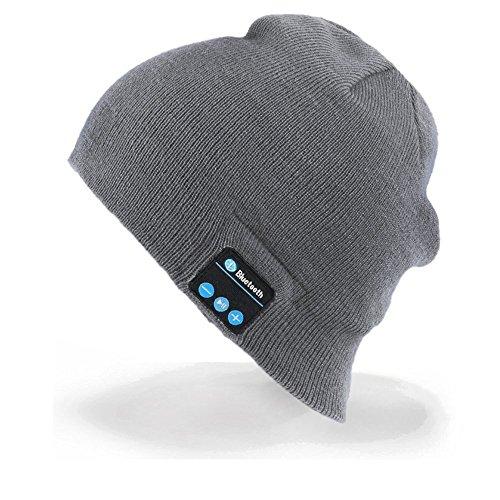 Unisex Bluetooth Gorra, Bluetooth Beanie Música Sombrero con audífono...