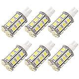 GRV T10 921 194 24-5050 SMD LED Bulb lamp Super Bright Cool White DC 12V Pack of 6