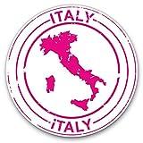 Impresionantes pegatinas de vinilo (juego de 2) 15 cm, diseño italiano de color rosa para portátiles, tabletas, equipaje, libros de chatarra, neveras, regalo genial #9210