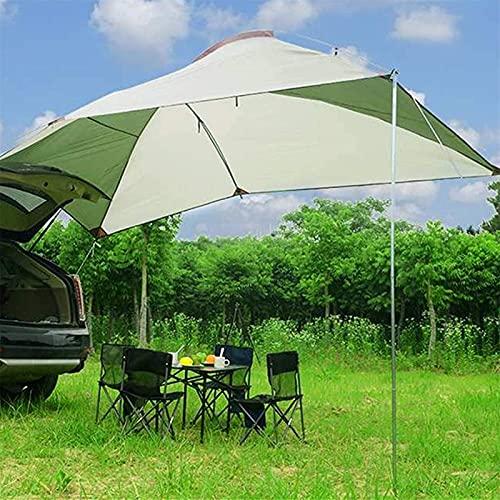 N/Z Campingausrüstung Campingzelt Sonnenschutz Outdoor Camping Markisenanhänger Markisenauto Markisenüberdachung Dachzelt Camping Nagelhalterung Seil (Farbe: Grün Größe: 245x350x200cm)