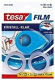 tesafilm Mini Abroller Pink, Blau oder weiß mit 2 x Kristall Klar Rollen, 10M: 19mm