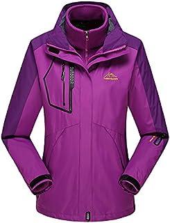 Dooping 3 en 1 Esquí para Mujer Nieve Chamarra al Aire última intervensión Impermeable Invierno cálido Chamarra Outwear