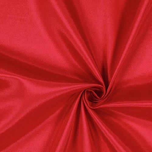 Fabulous Fabrics Futterstoff karminrot, 140cm breit – zum Füttern von Jacken, Kleidern oder Mänteln - Meterware erhältlich ab 0,5 m
