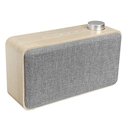 Yi-xirfashion Design Hölzerne Touch Radiocommunication Bluetooth-Lautsprecher 1500mAh Subwoofer-Lautsprecher-Unterstützung TF-Karte mit MIC Wireless Portable travel (Color : A)