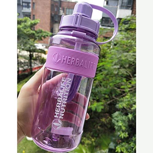 UKKD Botella De Agua Deportiva 1000Ml Nutrición Botella De Agua 24Fit Mildeo Botella Botella Botella De Paja Botella Deportes Espacio Plástico Tetera