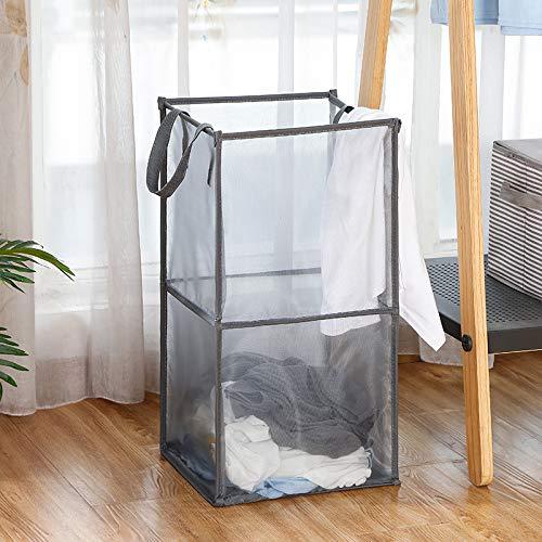 通気性が良く、空気を循環させて湿気やニオイを除去することで中身が蒸れないメッシュタイプの洗濯カゴ。