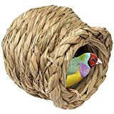 Woven Bird Nest Cage | Natural Grass Hideaway Bird Hut, Warm and Safe for All Kinds of Birds (Vase Shape)