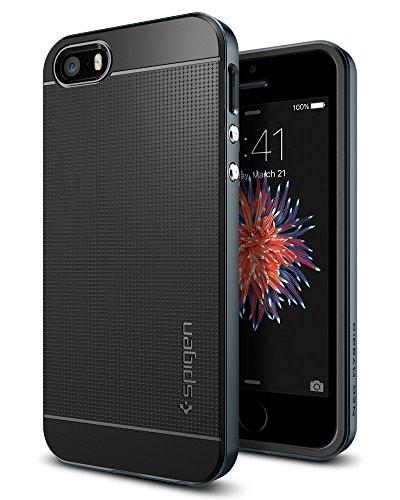 Spigen iPhone SE Hülle Neo Hybrid iPhone SE/5S/5 Case Metal Slate