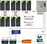 ECO-WORTHY 2000W 24V Off Grid Complete Solar Panel Kit System with 10pcs 195W Solar Panel and 3000W Inverter and 6 String Combiner...