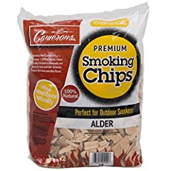 Smoking Wood Chunks - Works with gas grills, charocal grills, and smoker boxes. Barbecue Smoking Chunks - Made of 100% natural raw timber that is precision cut and kiln dried. Alder Smoker Wood - Ignited quickly and com-busts completely to create a d...