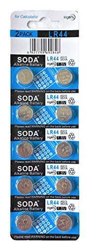 AG13 LR44 L1154 357 A76 Alkaline Button Cell Battery with Retail Blister Pack Cards (10)