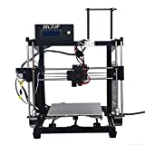 HICTOP 24V 3D-Drucker-Teile Desktop-Prusa I3 DIY Kits Aluminium-Maschine (Schwarz)