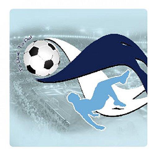 1art1 Football Poster-Sticker Autocollant - to Dare, to Do (9 x 9 cm)