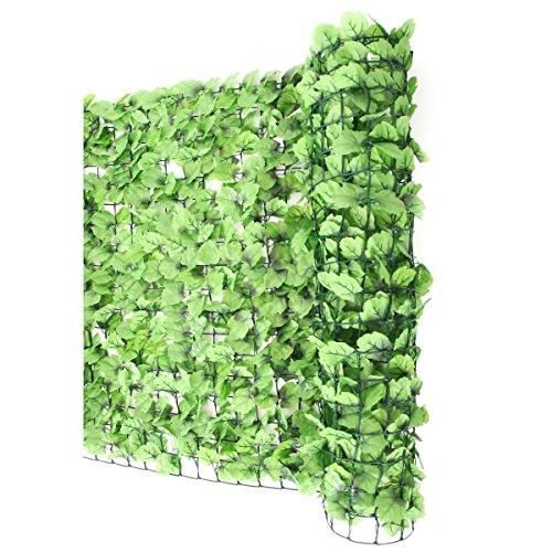 Mendler Balkonsichtschutz N77, Sichtschutz Windschutz Verkleidung für Balkon Terrasse Zaun ~ 300x150cm Blatt hell